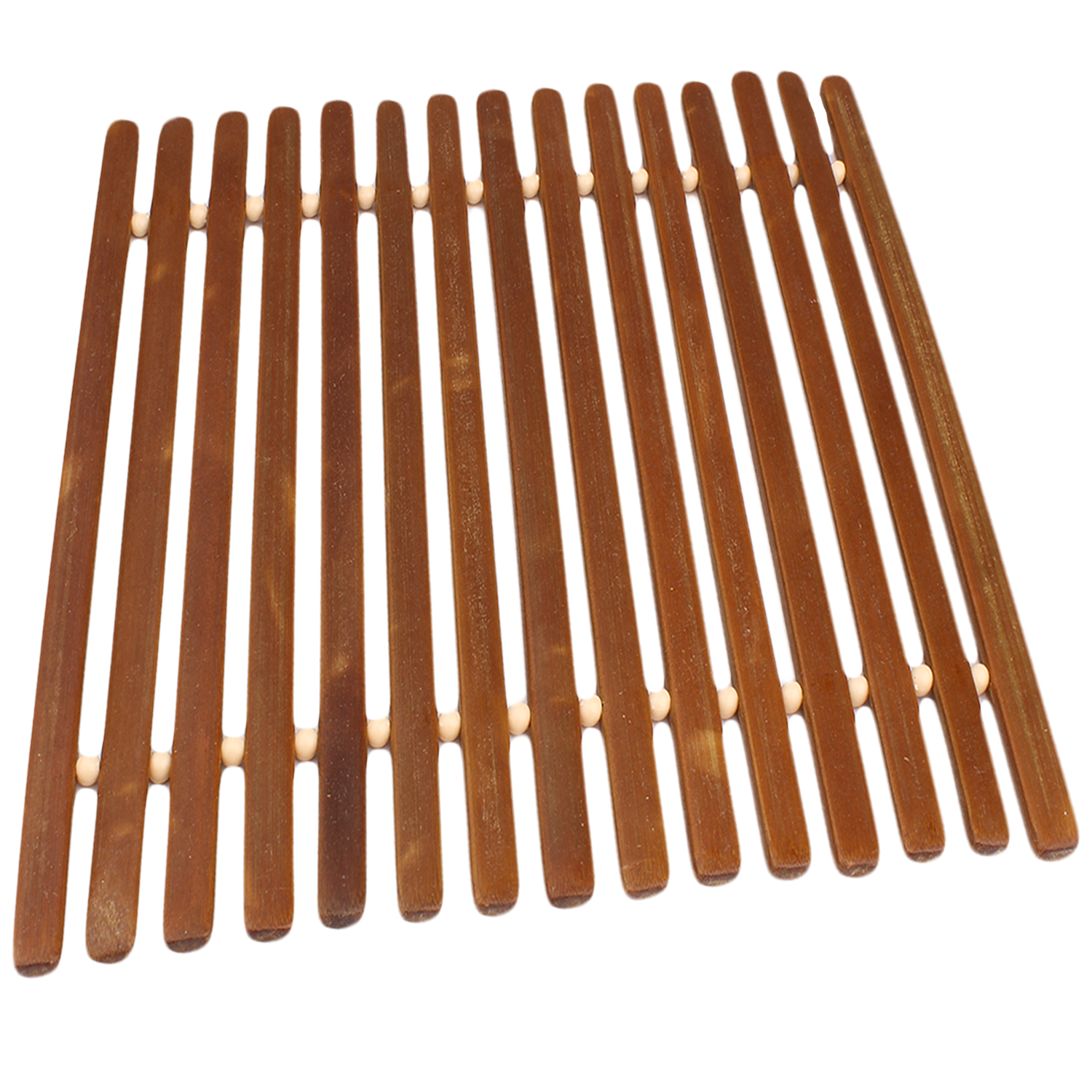 Square Bamboo Trivet Hot Mat for Countertops and Tables by bogo Brands (1 pack)