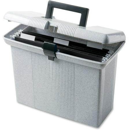 Portafile File Box (Pendaflex, PFX41737, Portafile File Storage Box, 1 Each, Granite)