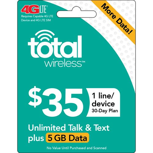 Total Wireless $35 30-Day 1-Line Unlimited Plan Prepaid Phone Card