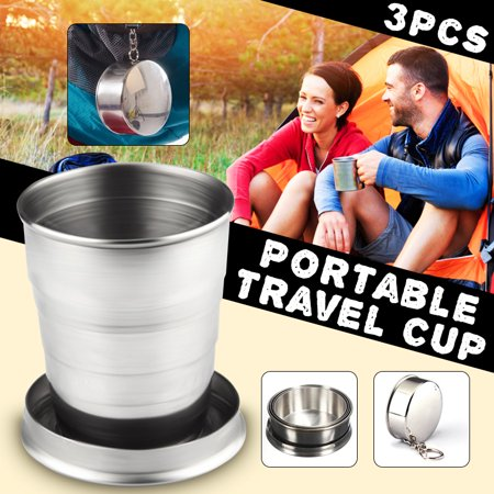 Halloween Mug Shots (75ml Stainless hikingcollapsiblefoldingminicup Steel Portable Pocket Folding Telescopic Collapsible Shot Water Cup Beer Mug Outdoor Travel Camping)