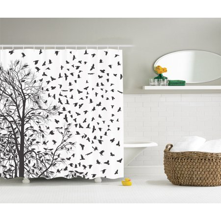 Real tree birch branches decor for bird love fall themed for Bird themed bathroom accessories