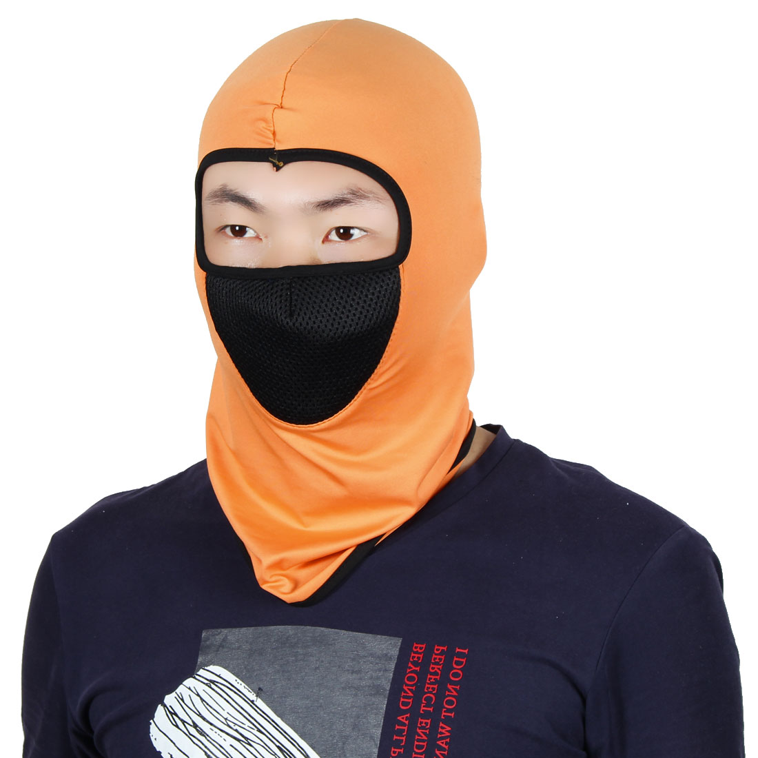 Full Face Mask Outdoor Sports Cycling Neck Protector Hat Helmet Balaclava Orange by Unique-Bargains