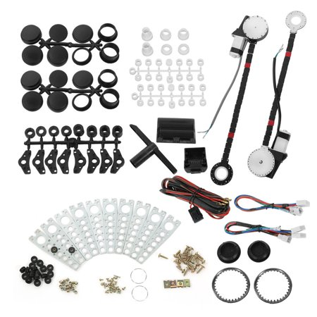 Universal Power Window Kit 12V Car Electric Power Window Lift Regulator Roll Up Conversion Kit For 2 Door Car Truck Suv