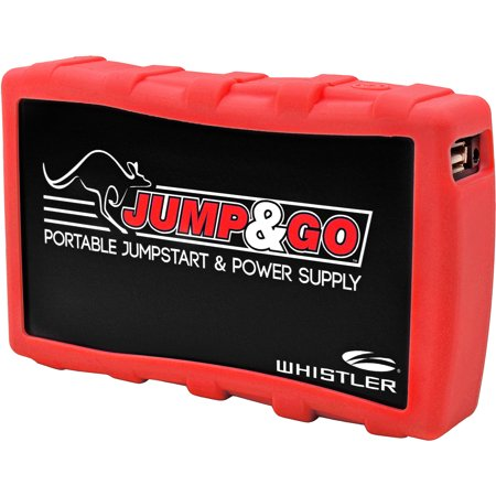 Whistler Jump and Go Portable Automotive Jump Starter & Charger, Red