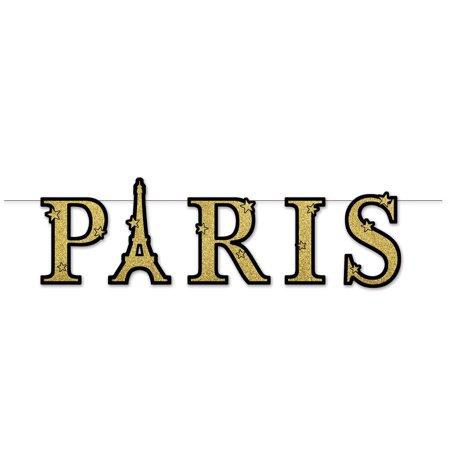 59865 Glittered Paris Streamer, 9.5