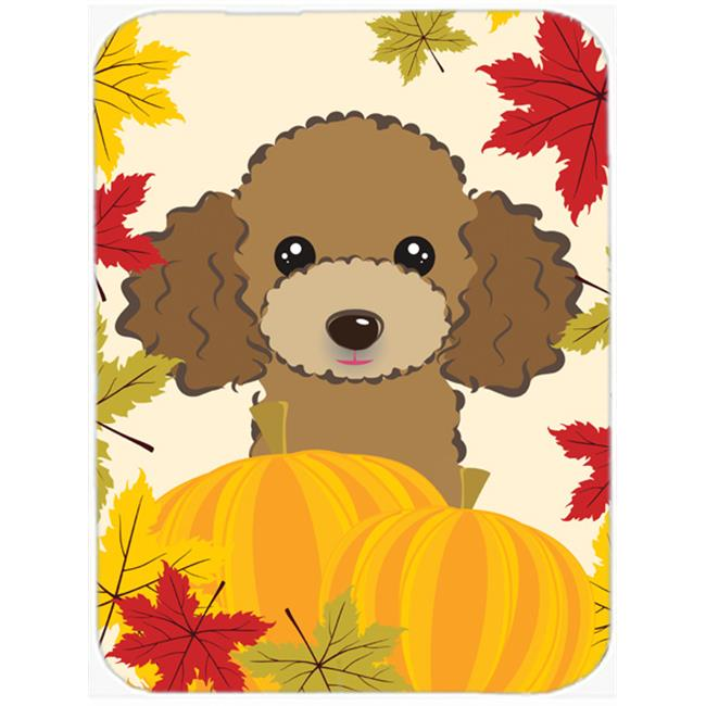 Chocolate Brown Poodle Thanksgiving Mouse Pad, Hot Pad or Trivet