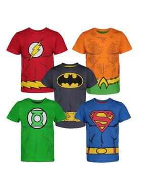 DC Comics Justice League Toddler Boys' 5 Pack T-Shirts - Batman, Superman, The Flash, Green Lantern & Aquaman 3 Years