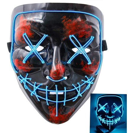 Halloween Costume Made Of Led Lights (Tagital Halloween Mask LED Light Up Funny Masks The Purge Movie Scary Festival)