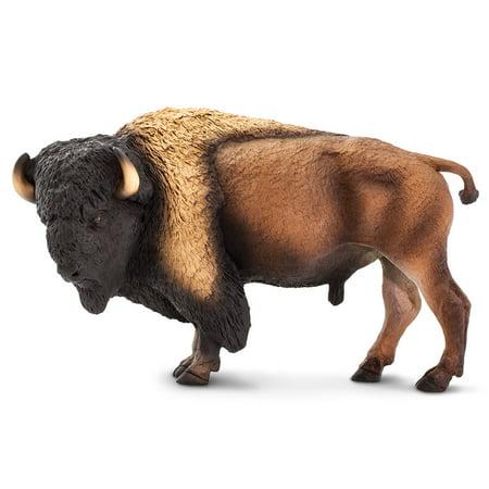 safari 100138 wildlife wonders bison miniature