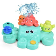 Bath Toys for Toddlers, 5 PCs Bath Tub Toys Set, Spray Water Toys for Kids, Best Gifts for Boys & Girls F-363