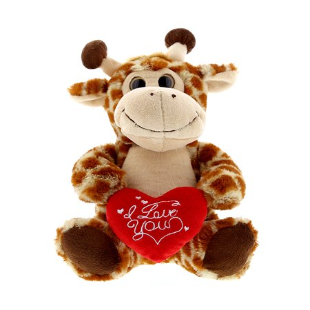 Super Soft Plush Dollibu Sitting Giraffe I Love You Valentines Plush - Valentine Animals