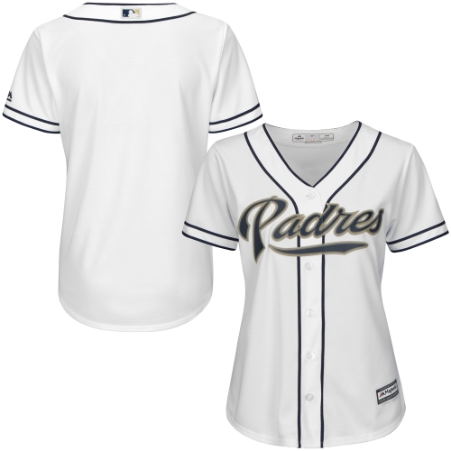 San Diego Padres Majestic Women's Cool Base Jersey - White