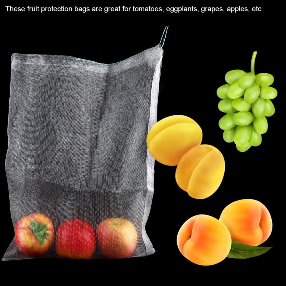 Details about  /50Pcs Vegetable Fruit Protection Bag Drawstring Anti Bird Pest Mesh Pouch Bag
