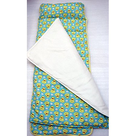 Soho Nap Mat For Toddlers Quacky Duckies With Pillow And Carrying Strap For Preschool Or Daycare
