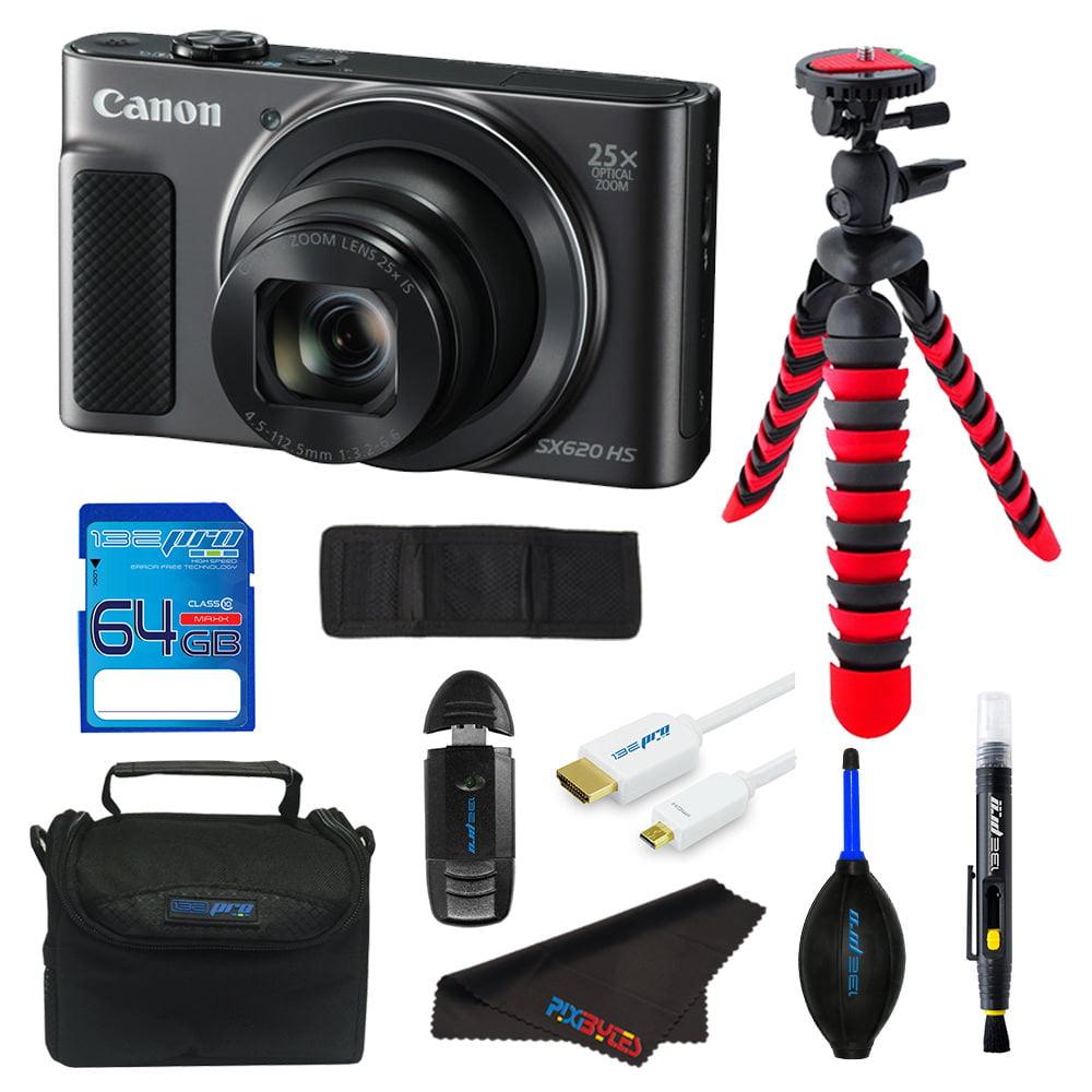 Canon PowerShot SX620 HS Digital Camera (Black) + Pixi Advance Bundle Kit