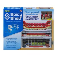 Spicy Shelf Universal Organizer for Cabinets, Spice Jar Organization for Pantry, As Seen on TV