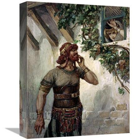 16 in Samson Seeth Delilah at Her Window Art Print James Tissot