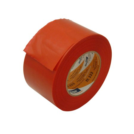 Shurtape PE-333 Economy Stucco Masking Film Tape: 3 in. x 60 yds. (Red with Serrated