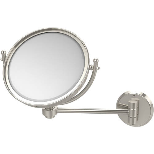 "8"" Wall-Mounted Make-Up Mirror, 5x Magnification"