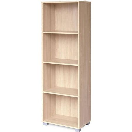 SunTime Outdoor Living Sorento Oak Narrow 4-Shelf Bookcase, E2 Board Board Books Case Pack