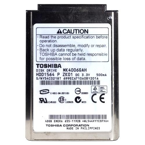 Toshiba MK4006GAH Hard Drive