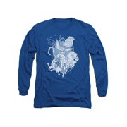 Rise Of The Guardians Animated Movie Guardians In Action Adult L-Sleeve T-Shirt