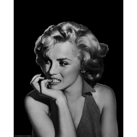The Thinker Marilyn Monroe Canvas Art Jerry Michael 24 X 30