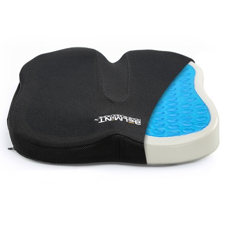 Posey Gel Foam Cushion - Belmint Coccyx Memory Foam Seat Cushion with Gel, Orthopedic Back Support Pillow