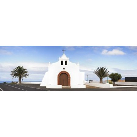 Chapel on a hill Tiagua Lanzarote Canary Islands Spain Poster Print](Party City Chapel Hill)