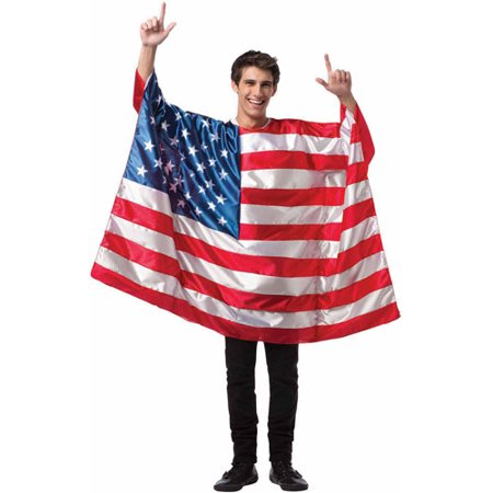 USA Flag Tunic Men's Adult Halloween Costume, One Size, (1980's Costumes For Kids)