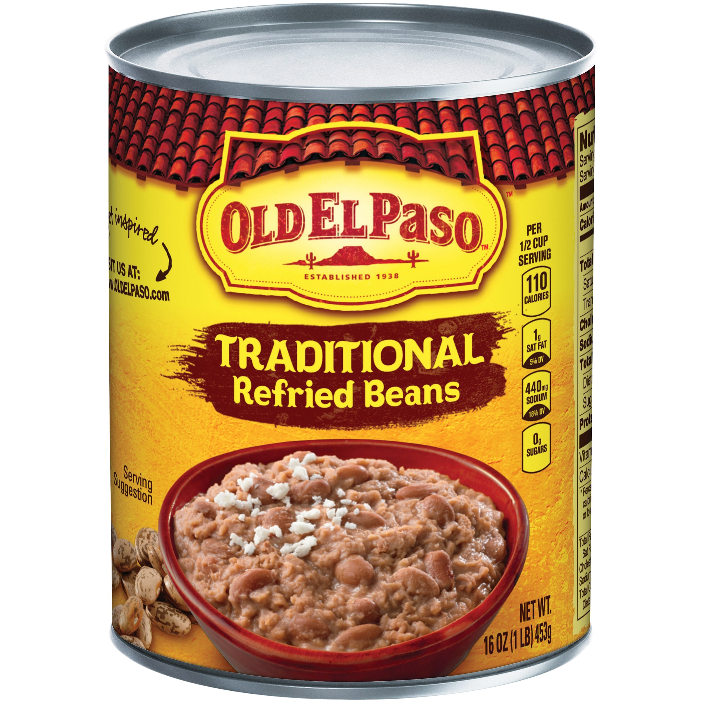 Old El Paso® Traditional Refried Beans 16 oz. Can