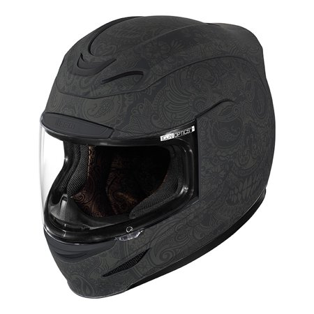 Icon Airmada Chantilly Full Face Helmet Black - Amp Kit Black Face