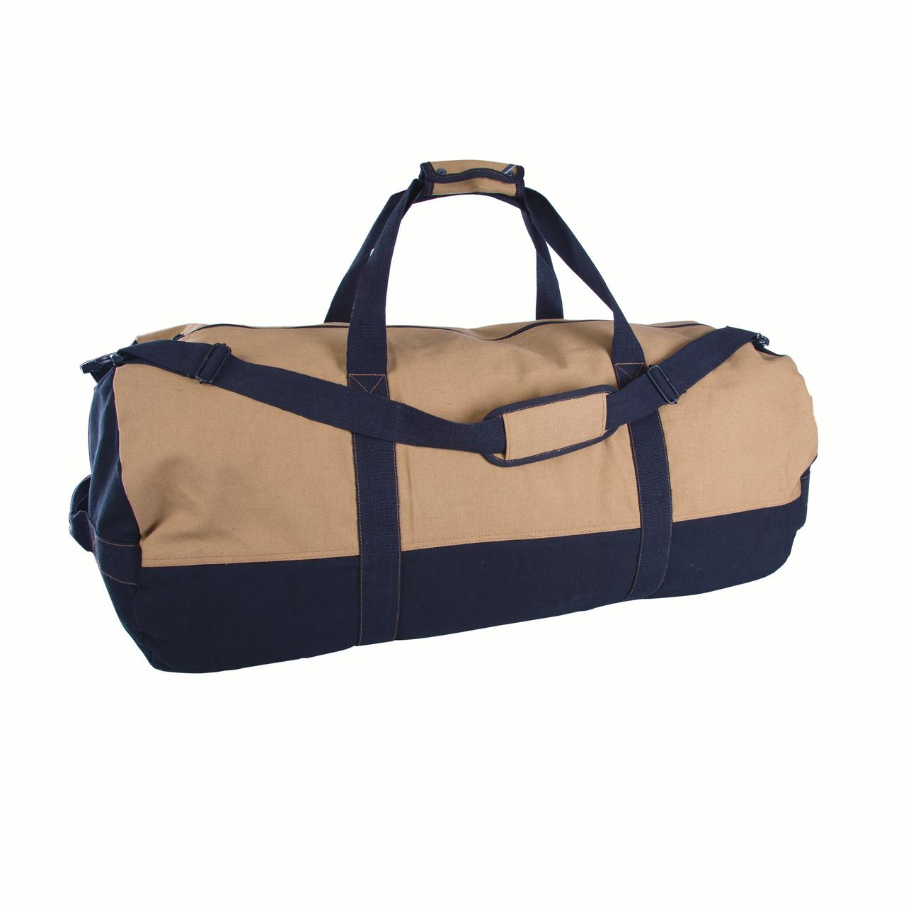 """Stansport Duffle Bag With Zipper - 2 Tone - 18"""" x 36"""