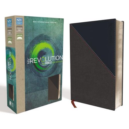 NIV, Revolution Bible, Imitation Leather, Gray/Navy : The Bible for Teen Guys - Teen Guy