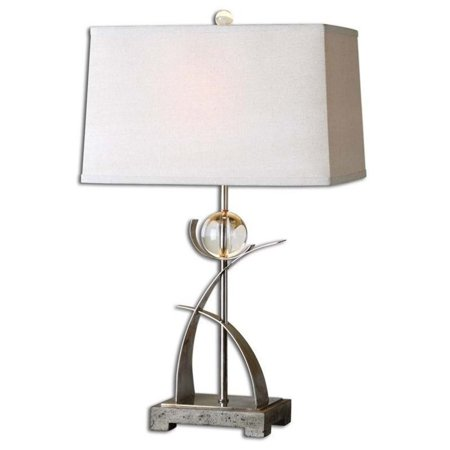 Uttermost 27746 Cortlandt Curved Metal Table Lamp