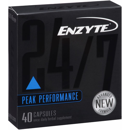 Enzyte 24/7 Anytime Natural Male Enhancement Supplement, 40 Count