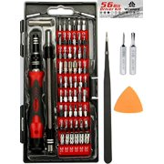 WIREHARD 62 in 1 Precision Screwdriver Set - Repair Tool Kit - Magnetic Steel Specialty Bits FOR iPhone X, 8, 7 & Below - Android Phone - MacBook - Computer - Tablet - Xbox - PlayStation - Electronics