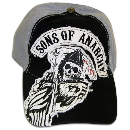 SOA Sons of Anarchy Two Color Fitted Baseball Cap Hat