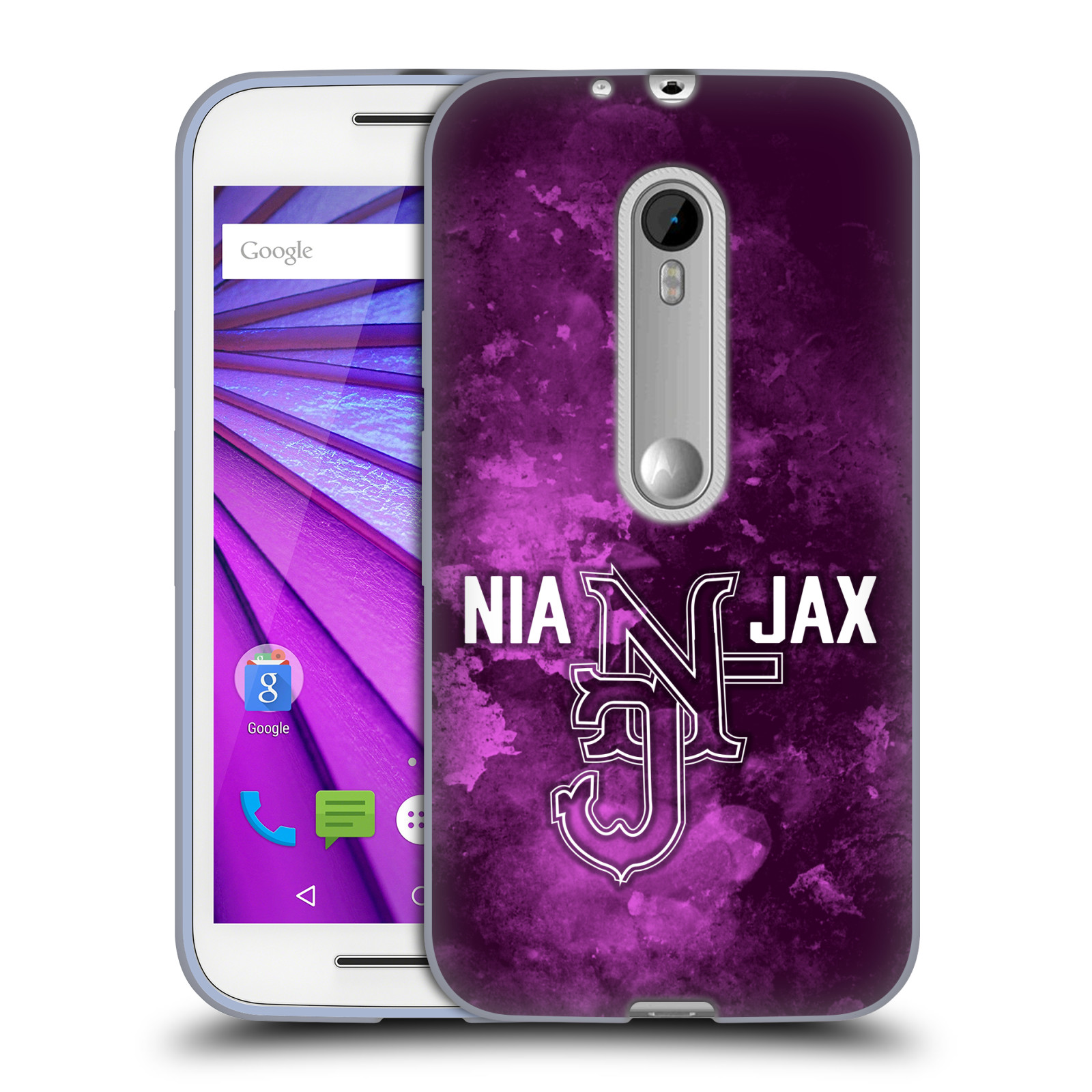 OFFICIAL WWE NIA JAX SOFT GEL CASE FOR MOTOROLA PHONES 2