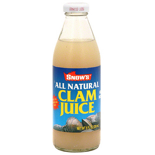 Snow's Clam Juice, 8 fl oz Soup, (Pack of 12)
