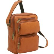 Le Donne Leather LD-082-TN Multi Pocket Organizer Mens Bag, Tan