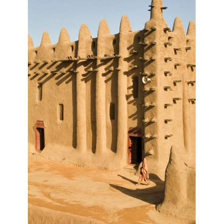 Mosque at Djenne, the largest mud-brick building in the world, Mali, West Africa Print Wall Art By Janis