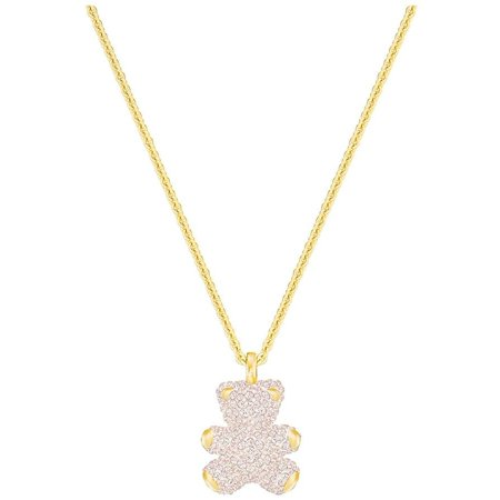 TEDDY 3D PENDANT, PINK, GOLD PLATING 5345683