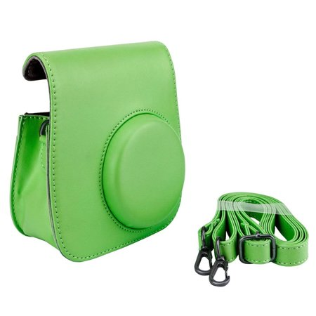 Lime Green Groovy Case For Fuji Instax Mini Camera + Strap New! Top Value! (Camera Case Light)