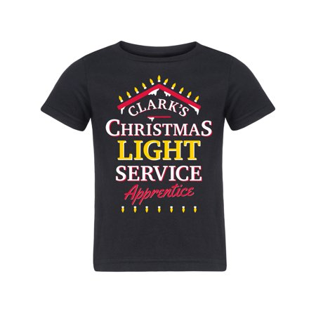 Clarks Christmas Light Service Apprentice Funny Toddler Short Sleeve Tee Shirt