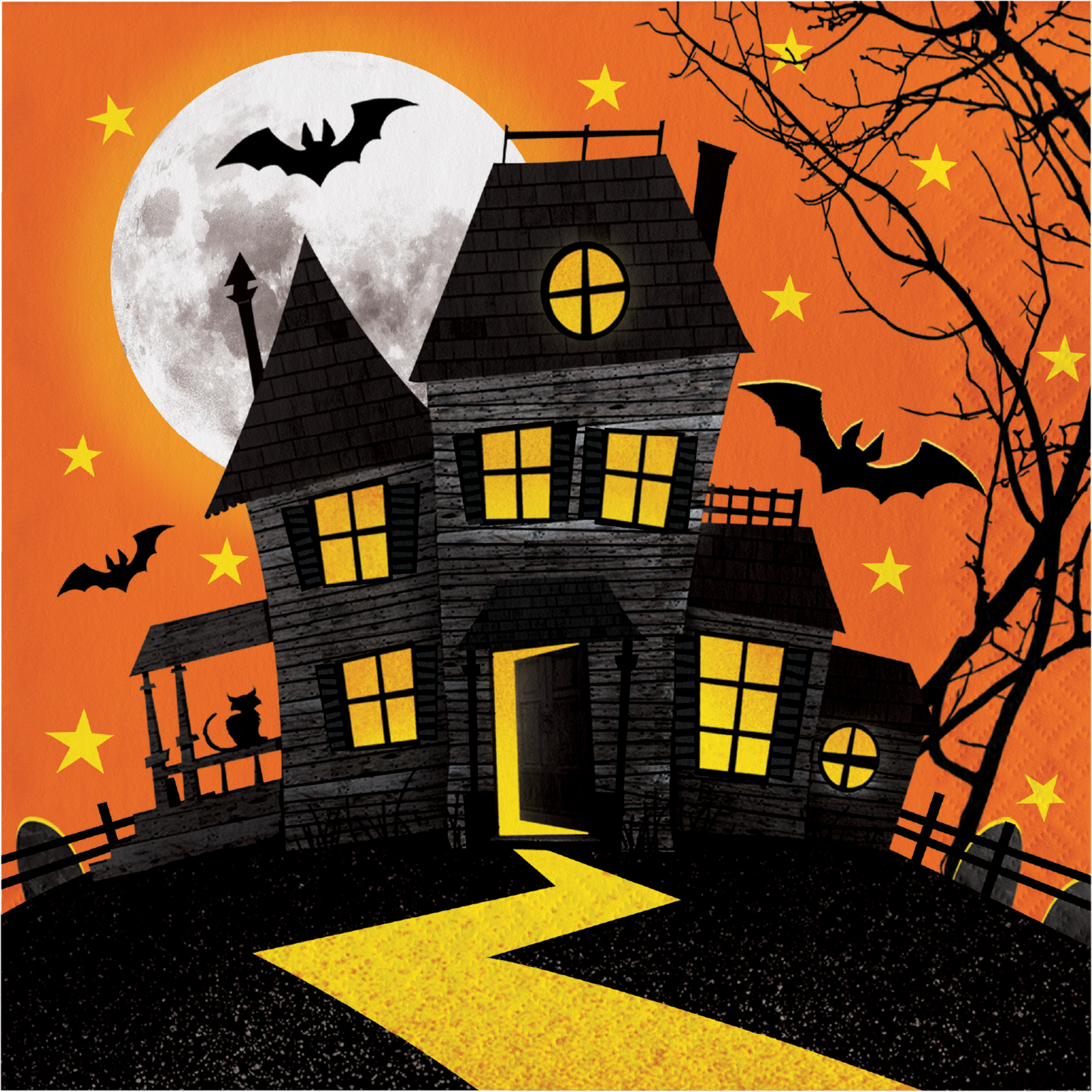 Haunted House Napkins, 16 pack
