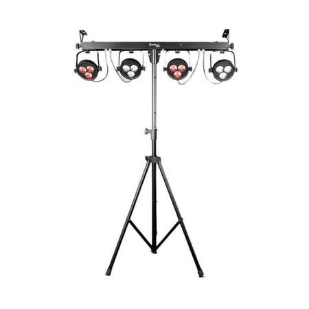 - Chauvet DJ 4BAR LT USB Complete Wash Lighting System w/ Tripod, Footswitch + Bag