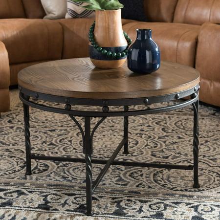 Baxton Studio Austin Industrial Antique Round Coffee Table