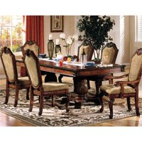 Pemberly Row Double Pedestal Dining Table in Cherry
