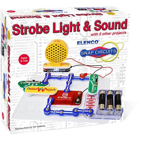 Snap Circuit Light (Electronics SCP-14 Snap Circuits Strobe Light & Sound Kit, Requires 3 AA batteries (not included) By)